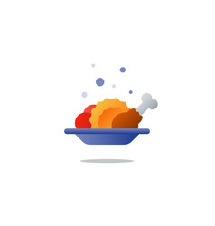 Lunch plate tasty dinner main course icon vector