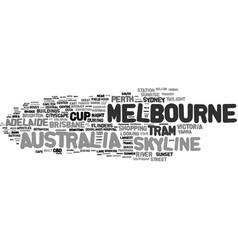 Melbourne word cloud concept vector