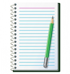 note pad with pencil vector image vector image