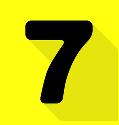 Number 7 sign design template element black icon vector