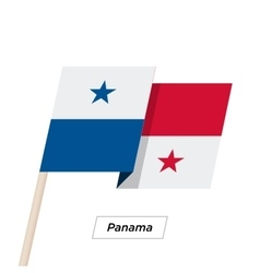 Panama ribbon waving flag isolated on white vector
