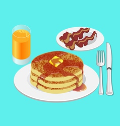 Pancakes for breakfast vector image vector image