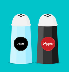 Pepper and salt shaker set flat vector