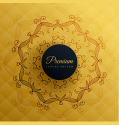 premium golden mandala decoration background vector image