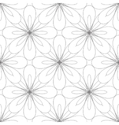 seamless geometric ornament vector image vector image