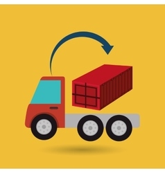 Truck delivery shipping cargo vector