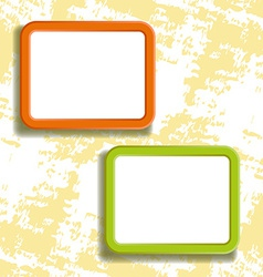 Two square frames on the wall vector