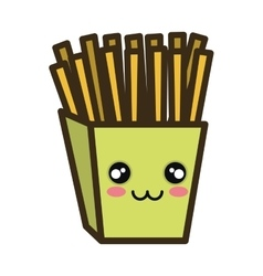 Kawaii cartoon french fries vector