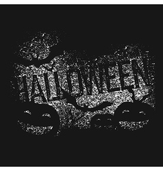 Halloween abstract logo halloween party isolated vector