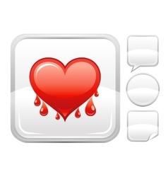 Happy valentines day romance love heart bleeding vector