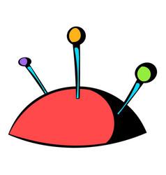 pincushion with pins icon icon cartoon vector image