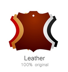 Leather original vector