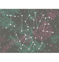 Phrase i love you in a form of constellation vector