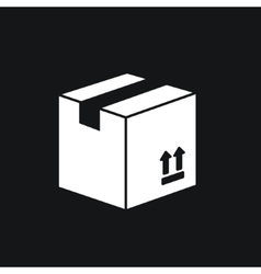 Carton package box icon vector