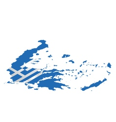 Isometric greece flag vector