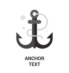 anchor text icon vector image vector image