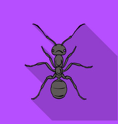 Ant icon in flat style isolated on white vector
