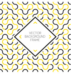 Background pattern with frame vector