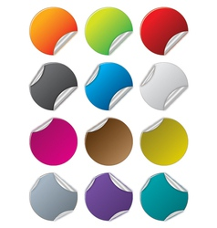 Beautiful color stickers vector image
