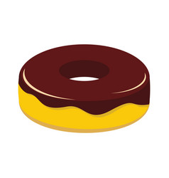 Cake colorful bakery product icon vector