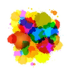 Colorful Abstract Splashes Background vector image