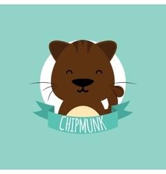 Cute cartoon chipmunk vector