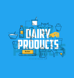 Dairy products concept vector
