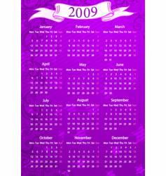 european pink floral calendar vector image vector image