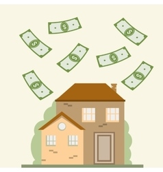 House and Dollars vector image vector image