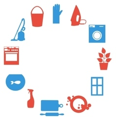 House work icons flat design vector