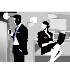 night meeting in the office vector image vector image