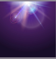 poster template with glow light effect bright vector image vector image