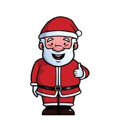 Santa Claus giving thumbs up vector image vector image