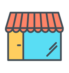 shop pixel perfect thin line icon 48x48 store vector image