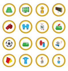 Soccer cartoon icon circle vector
