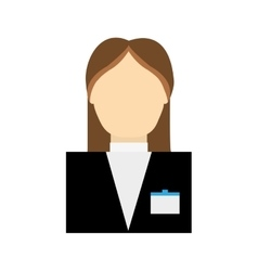 Receptionist female suit hotel service icon vector