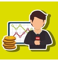 Man rating news money vector