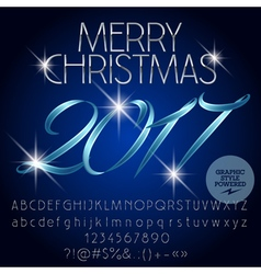 Magical merry christmas 2017 greeting card vector