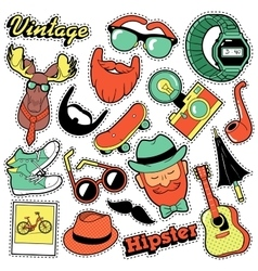 Hipster vintage fashion stickers patches badges vector