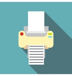 Fax icon flat style vector