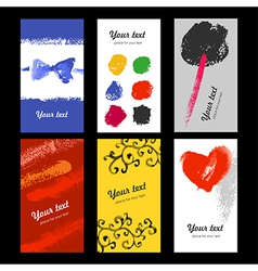 art cards vector image