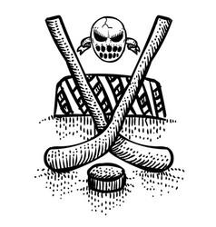 Cartoon image of hockey icon sport symbol vector
