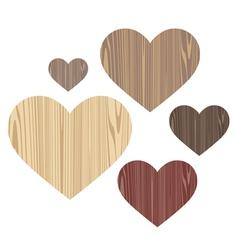 Unusual Heart Wood vector image