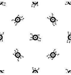 Cyber eye symbol pattern seamless black vector
