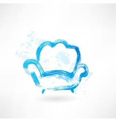 Armchair grunge icon vector