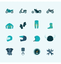 Biker icon set vector