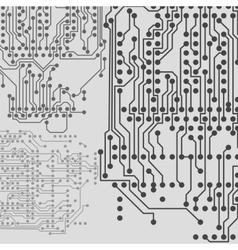 Microchip background electronic circuit EPS10 vector image