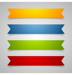 Set of label ribbons vector