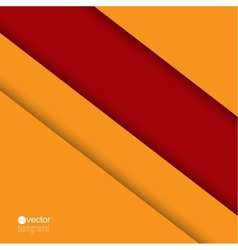 Background of red and orange strips of paper vector
