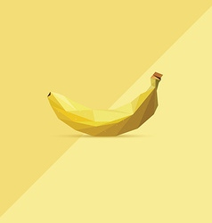 3d origami low polygon banana vector image vector image